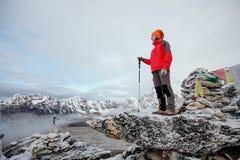 Hiker posing in Himalayas Royalty Free Stock Photo