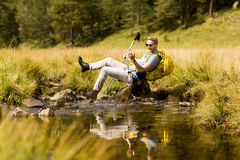 Hiker resting Royalty Free Stock Photography