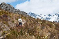 Hiker at Routeburn Track Stock Photos