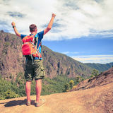 Hiker or runner success motivation Royalty Free Stock Image