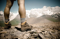 Hiker's boots Royalty Free Stock Photos