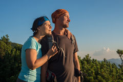 Hiker's couple Royalty Free Stock Photo