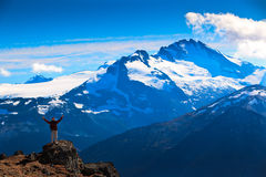 Hiker's mission accomplished Royalty Free Stock Photo