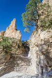 Hiker`s Staircase - Guadalupe Mountains National Park - Texas. Hiker`s Staircase rock formation on Devil`s Hall Trail in Guadalupe Mountains National Park in Stock Image