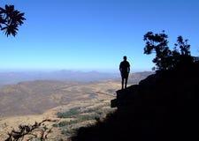 Hiker silhouette Stock Photos