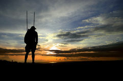 Hiker Silhouette Royalty Free Stock Photos