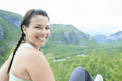 Hiker smiling Royalty Free Stock Photo