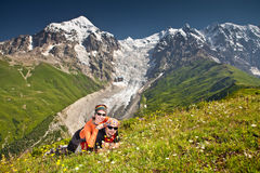 Hiker take a rest Stock Photography