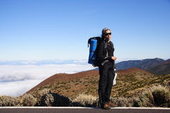 Hiker on Tenerife Stock Photos
