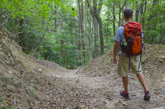 Hiker on a Trail Stock Photography