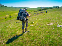 Hiker trekking in Crimea Stock Photography