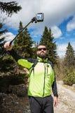 Hiker on Velika planina Royalty Free Stock Photo