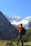 Hiker view Royalty Free Stock Photography