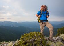 Hiking in Carpathian mountains Royalty Free Stock Photo