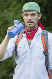 Hiker on the way Stock Photography