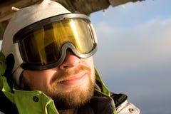 Hiker in winter Stock Photo