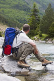 Hiker With Backpack Stock Photos