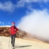 Hiker woman hiking Stock Image