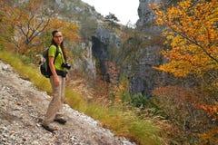 Hiker woman Stock Photo