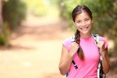 Hiker woman - hiking portrait Stock Photos