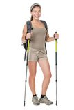 Hiker woman isolated Stock Photography