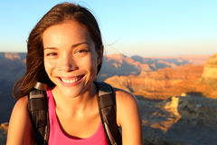 Hiker woman portrait Stock Photos