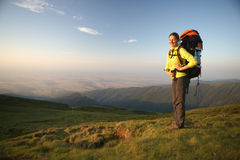 Hiker women standing Royalty Free Stock Photography