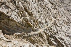Hikerr sur le forestier Pass, parc national de séquoia, la Californie Image stock