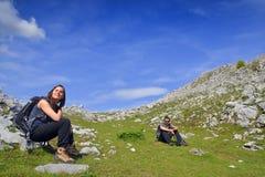 Hikers лета стоковое фото rf