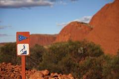 Смещать предосторежение в австралийском захолустье Стоковые Фото