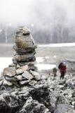 Наземный ориентир на Galdhøpiggen Стоковое Фото