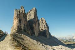 Hikers на популярном следе от Rif Стоковые Фото