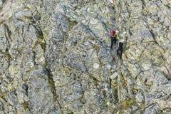 Hikers на следе цепей застрахованного Стоковая Фотография RF