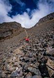 Hikers до горы Syue Стоковое Фото