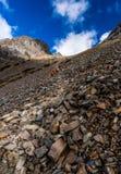 Hikers до горы Syue Стоковая Фотография