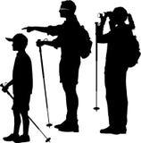 hikers семьи Стоковое Фото