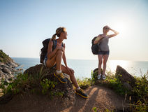 hikers Imagenes de archivo