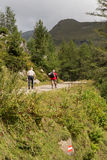 Hikers in the Alps, austria Royalty Free Stock Photography