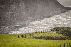 Free Hikers Ascend Hill On Coast To Coast Path Stock Images - 168170524