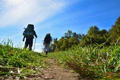 Hikers / Backpackers Royalty Free Stock Photography