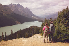 Hikers Banff Nationalpark Royalty Free Stock Photo