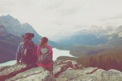 Hikers Banff Nationalpark Stock Photography