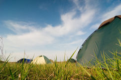Hikers camp Royalty Free Stock Photography