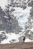 Hikers in Caucasus mountains Stock Image