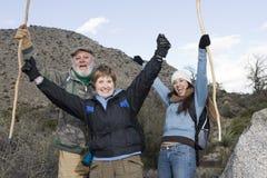 Hikers Enjoying On Hiking Trip Royalty Free Stock Image
