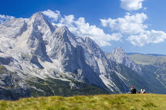 Hikers enjoying the view Stock Photography