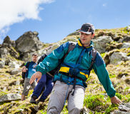 Hikers friends Royalty Free Stock Photography