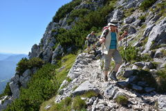 Hikers in german alps Royalty Free Stock Images