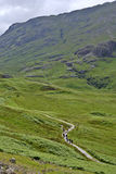 Hikers in Glencoe Stock Image
