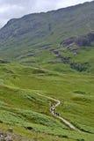 Hikers in Glencoe Stock Image